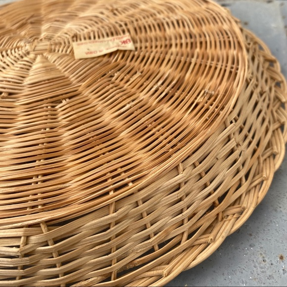 Vintage Other - Vintage Flat Wicker Basket